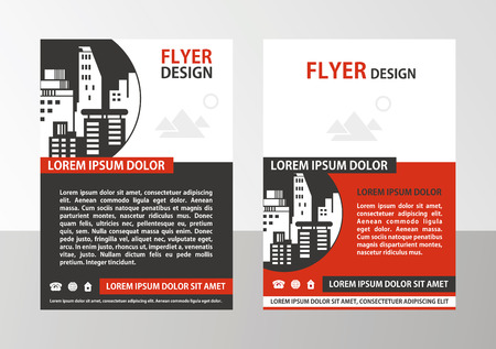 Flyer, brochure, cover layout design print template