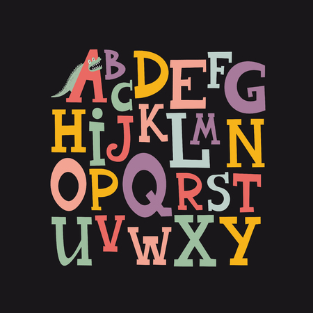 cute alphabet design. vector illustration