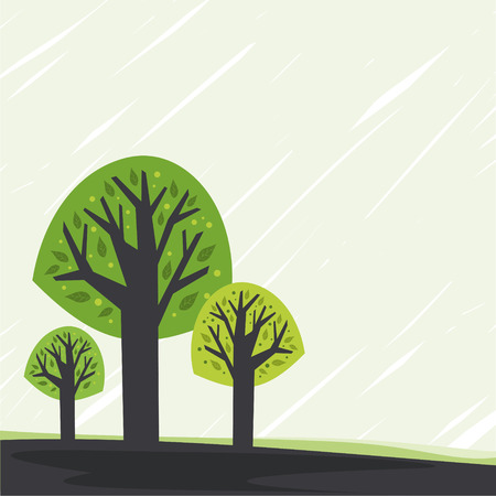 Card with stylized tree. With space for your text Ilustrace