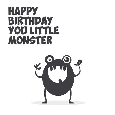 Little Monster Greeting Card Reklamní fotografie - 59396729