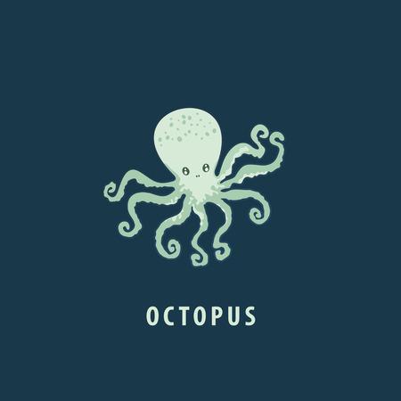 Cute octopus. Vector illustration