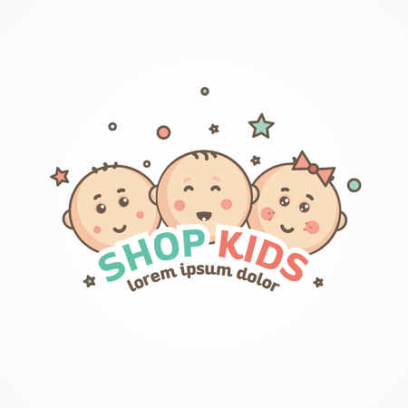 kids logo design template.