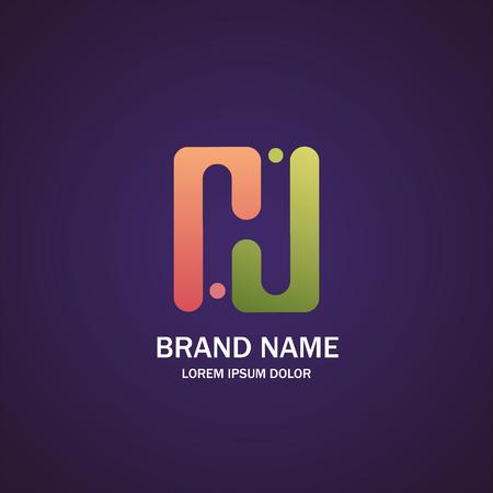 Letter H logo, design template elements.
