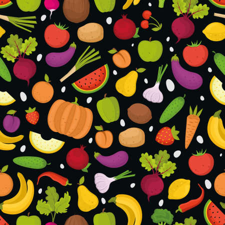 fruits and vegetables, seamless pattern for your design