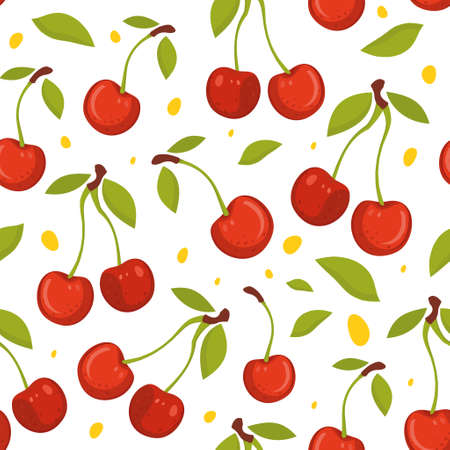 Cherry seamless pattern.