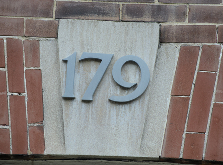 Ornate house number
