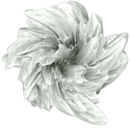 Computer generated abstract flower-like shape isolated on white