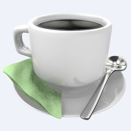 Cup of black coffee isolated on background Stock Photo