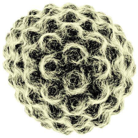 virus isolated on white background photo