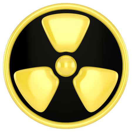 caesium: Radiation Warning Sign
