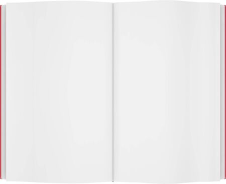 render of book with empty pages on white background