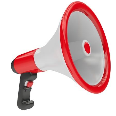 a public notice: Loudspeaker