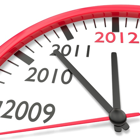 Clock with Countdown to New Year 2012 Stock Photo - 9449195