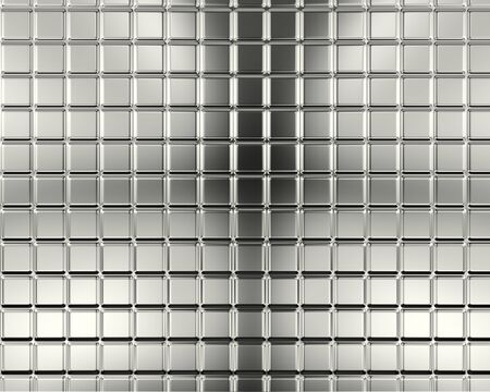 Abstract aluminum square background 3d illustration  illustration