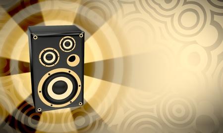 Loudspeaker bass Stock Photo