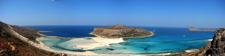 Panoramic view of Balos beach,Crete, Greece photo