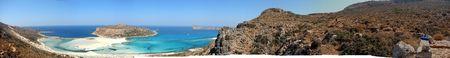 180 degree view of Balos beach, Crete, Greece photo