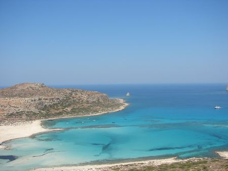 View from Balos, Crete, Greece photo