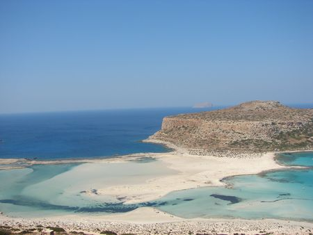 View from Balos beach, Crete, Greece photo