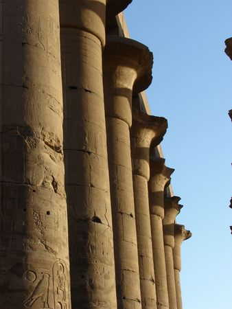Detail from Luxor temple, Egypt photo
