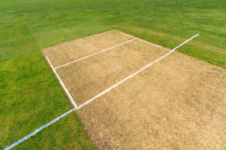 Cricket pitch, sport background Stok Fotoğraf