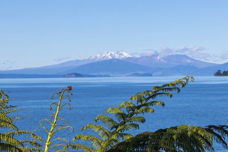 Lake Taupo uitzicht, Nieuw-Zeeland