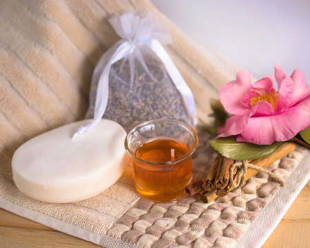 Aromatherapy and spa concepts Stock Photo