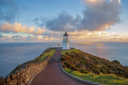Cape Reinga, north edge of New Zealand 스톡 콘텐츠 - 131977380