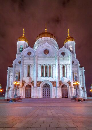 The Cathedral of Christ the Savior - the main cathedral of the Russian Orthodox Church in Moscow