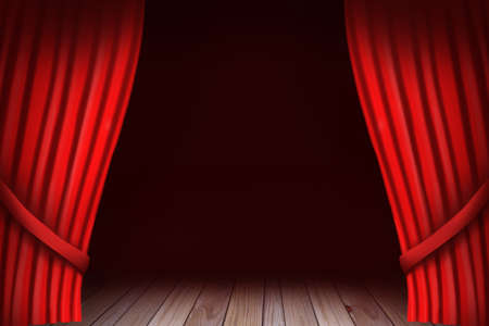 Red Curtain Reveal, Theatre Stage