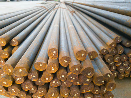 reinforcement: Steel bars awaiting Head and tail threading are jack lot for use with a slip form.