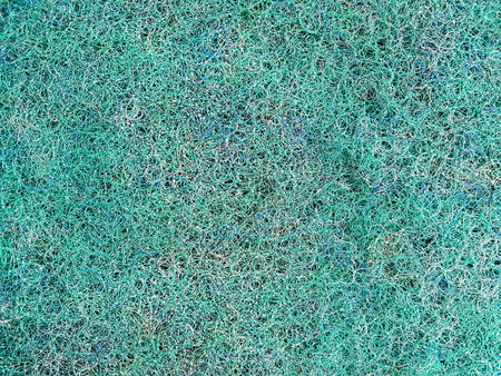 Background texture surface of multicolored resin fiber Used to filter dirt in the water.