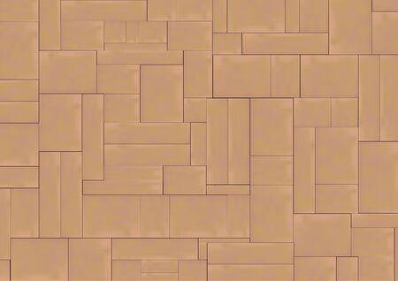 Vector van Naadloos bestrating patroon, Achtergrond en textuur.