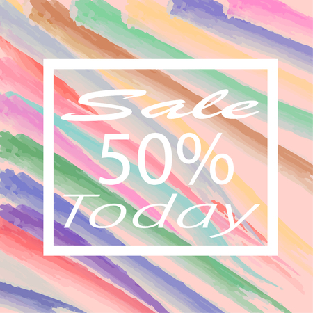 Today sale with modern color background,Vector illustration.