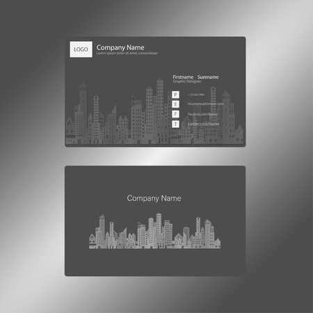 Black And White With Building Pattern Business Cards,name Cards ...
