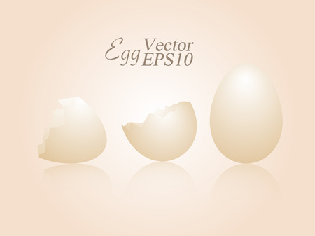 Egg and clack egg on soft color background illustration vector design. Illusztráció