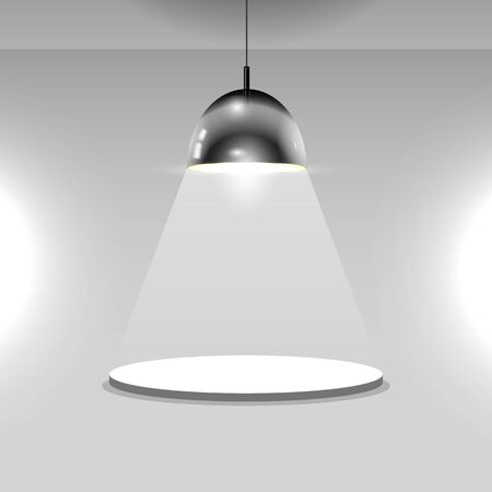 Black ceiling lamp. Vector Фото со стока - 51244808