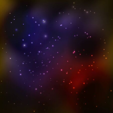 Abstract Space background. illustration
