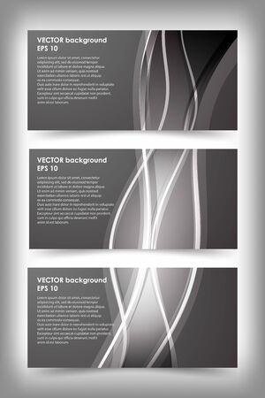Set of black and white banner templates. Bright modern abstract design. Фото со стока - 53115773