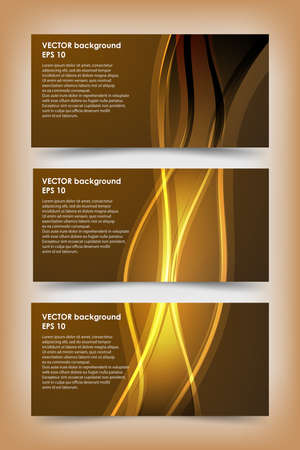 Set of gold banner templates. Bright modern abstract design. Фото со стока - 53115780