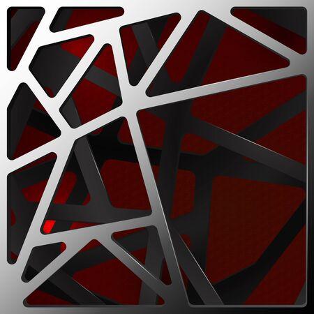 carbon fiber: Digital resumen de antecedentes ilustración de carbono en rojo