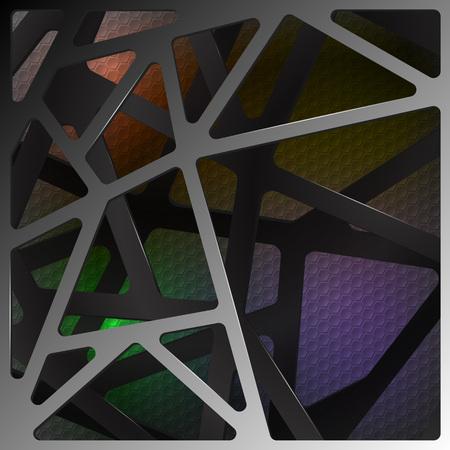 Digital resumen de antecedentes ilustración de carbono en el color