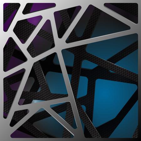 digital de ilustración de fondo abstracto de carbono