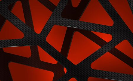 Abstract digital background illustration carbon on red