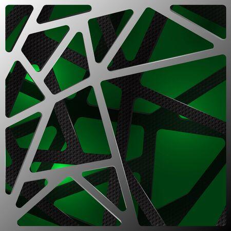 Abstract digital background illustration carbon on green Illustration