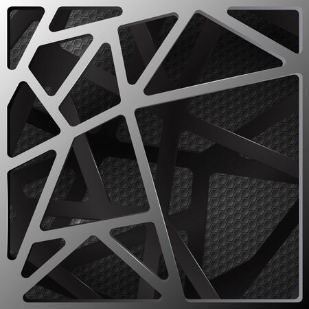 Abstract digital background illustration carbon Иллюстрация