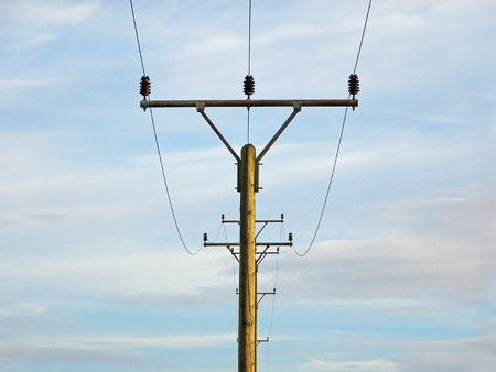 mast: Wooden Telephone Mast