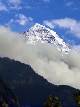 monch: Top of Monch, appearing above the clouds