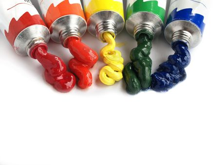 oil paints: Petr�leo pinturas oozing de tubos