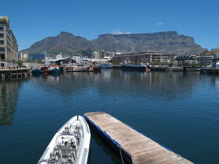 Table Mountain from the V&A waterfront photo